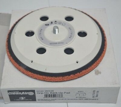 """Carborundum Carbo CleanAir 6"""" Disc Soft Back-Up Pad Grip-On 99338"""