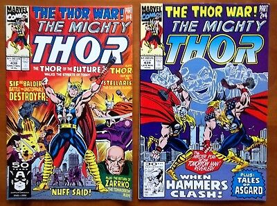 2 Marvel comics The Mighty THOR #438, 439 from 1991