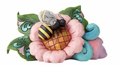 Jim Shore Heartwood Creek Miniature Bumblebee On A Flower Figurine 6000678 New