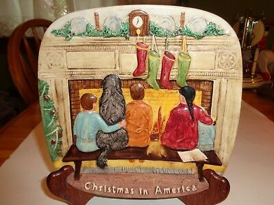 """Royal Doulton """"Christmas In America"""" 1978 Collectors International Plate-Beswick"""