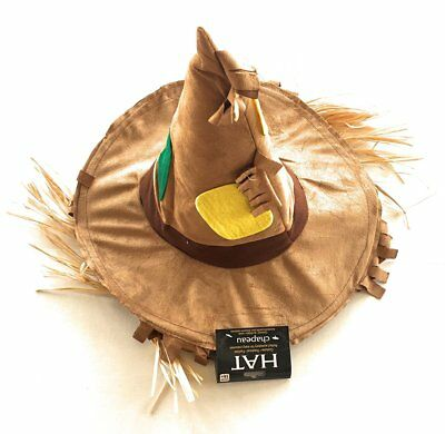 Scarecrow Costume Hat with Straw Hair