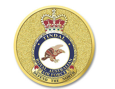 Medallion Military Tindal RAAF Air Force Base Australia Double Sided Coin 48mm