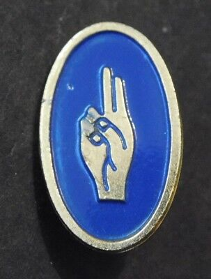Vintage Girl Scouts BROWNIE PROMISE PIN  1960s