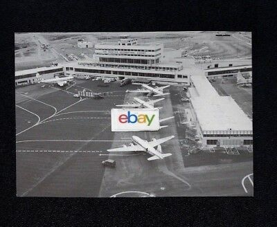 San Francisco International Airport Opening 1954 United Airlines B/w Postcard