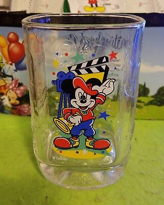 Disney Glass Cup McDonalds Millennium Celebration Mickey Mouse Hollywood Studios