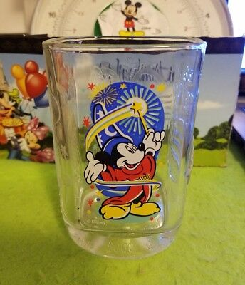 Disney Glass Cup McDonalds Millennium Celebration Mickey Mouse Sorcerer Epcot