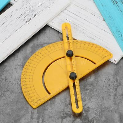Plastic Protractor Angle Finder Measure Ruler Goniometer Articulating Arms A8P8