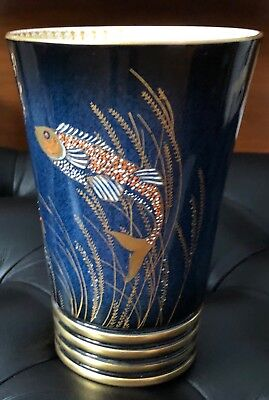 Carlton Ware Fish And Seaweed Vase - Mint Condition- Carltonware