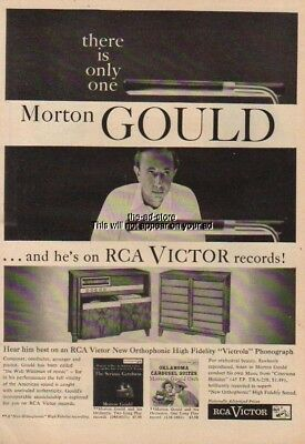 1955 RCA Victor Conductor/Composer/Pianist Morton Gould Records LP Ad MMXV