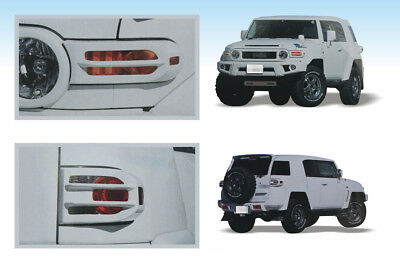4X Front & Rear Light Guard ABS Protectors Covers White for 2007-2018 FJ Cruiser