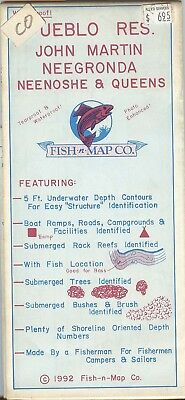 Fish-n-Map Co. PUEBLO RES. John Martin Neegronda Neenoshe & Queens Colorado 1992