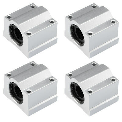 SCS16UU Linear Ball Bearing Slide Block Units , 16mm Bore Dia 4Pcs