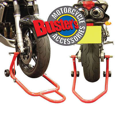 Front and Rear Motorbike Paddock Stand Set Pair Stands