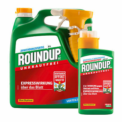 Roundup Ac 3 Liter Ready-To-Use + 400 Ml Concentrate - Weed Killer