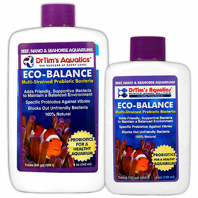 Dr Tims Eco-Balance Probiotic Bacteria Health 120ml 240ml Marine Reef Aquarium