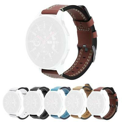 Genuine Scrub Leather Wrist Watch Band Replacement for Samsung Galaxy SM-R800