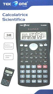 ds Calcolatrice Scientifica TeKone TO-82MS Elettronica Scuola 240fun hsb