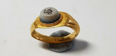 Roman Gold Ring with Intaglio. 3rd century AD