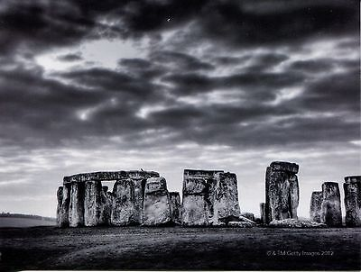 Black And White Postcard Of The Mysterious Stonehenge Rock Grouping In England