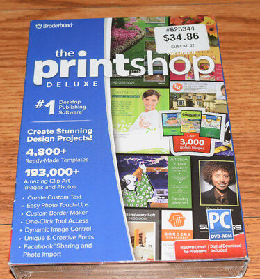 Brand New Sealed The Print Shop Deluxe Version 4 Create Stunning Projects