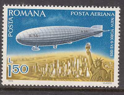 ROMANIA 1978 1.50 L Zeppelin Air mail MINT UNHINGED