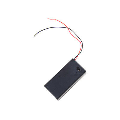 2x New 9V Battery Holder with ON/OFF Switch 9 volt Box Pack Power Toggle DSUK