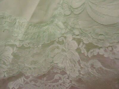 """Vtg Mint Green Sears Polyester Panties Pantaloons FAB Lace AS IS L 30-45"""" waist"""