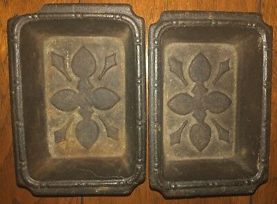 Pair of Antique Cast Iron Drip Pans For Hall Tree