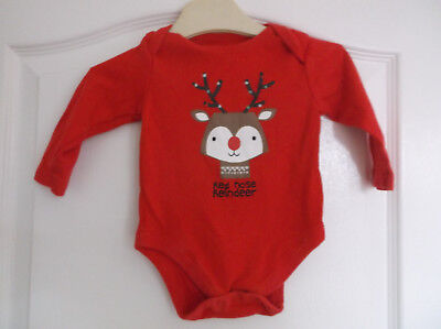Boys F&F Christmas Rudolph Long Sleeve Top age 3-6 Months
