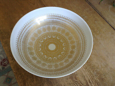 "Large Hans Bauman Rosenthal Porcelain Studio Line Gold Decorated 10"" Bowl"