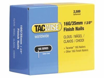 Tacwise 16 Gauge Straight Finish Nails 35mm Pack 2500