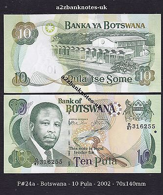 P# 24a    BOTSWANA    10 Pula    2002 >100% CRISP & UNC CONDITION
