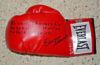 Earnie Shavers Heavyweight Challenger Ali Hand Signed Everlast Boxing Glove