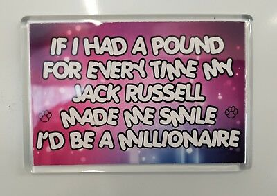 IF I HAD A POUND EVERY TIME MY JACK RUSSELL MADE ME SMILE Novelty Fridge Magnet