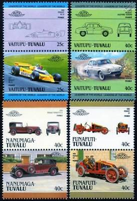 RENAULT Collection of 8 Car Stamps (Auto 100 / Leaders of the World)
