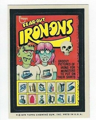 1975 Topps Wacky Packages 15th Series 15 FEAR-OUT IRON-ONS nm- o/c