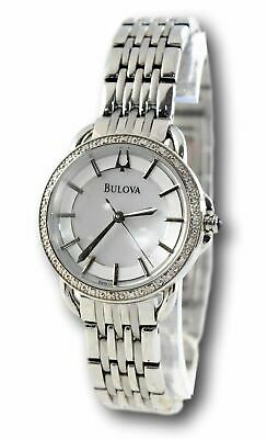 Bulova Women's 96R146 Diamond Accent Mother of Pearl Stainless Watch
