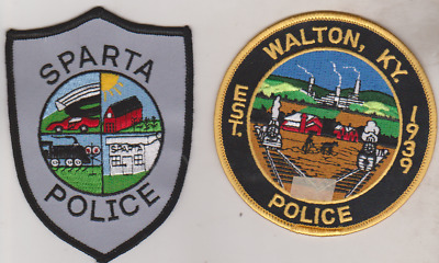 Sparta & Walton KY Police patches
