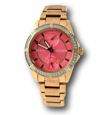 Citizen Eco-Drive Women's Rose Gold FD3003-58X Crystal Pink Dial Watch
