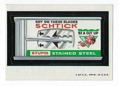 1973 Topps Wacky Packages 2nd Series 2 SCHTICK BLADES tb nm-