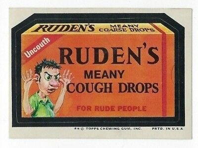 1974 Topps Wacky Packages 10th Series 10 RUDEN'S COUGH DROPS nm- o/c