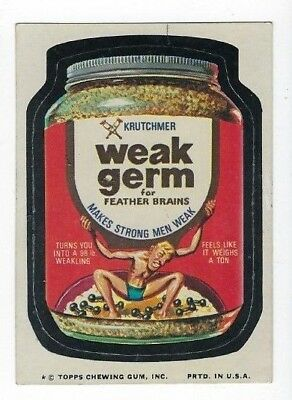 1975 Topps Wacky Packages 12th Series 12 WEAK GERM ex+/nm-