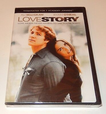 Love Story  Ali MacGraw Ryan O'Neal (DVD, 2007) WS  NEW 1970  Erich Segal