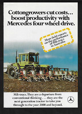 Mercedes-Benz For Cottongrowers Mb-Trac Tractors 6 Page Foldout Brochure