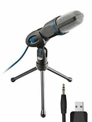 Trust 20378 Mico USB Microphone Stand PC Laptop, USB Connected