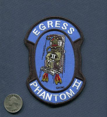 MCDONNELL DOUGLAS F-4 PHANTOM EGRESS USAF Fighter Squadron Ejection Seat Patch