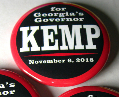 Kemp For Georgia Governor 2018 2.25 Inch Political Button Pin Really Cool Wow