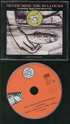 FISH Never Mind The Bullocks-Hold Your Head Up 4 TRACK CD MARILLION BOWIE