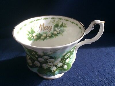 Royal Albert Flowers Of The Month May tea cup (obvious gilt wear)