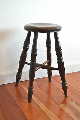 Original Victorian tavern stool English Elm & Ash circa.1850